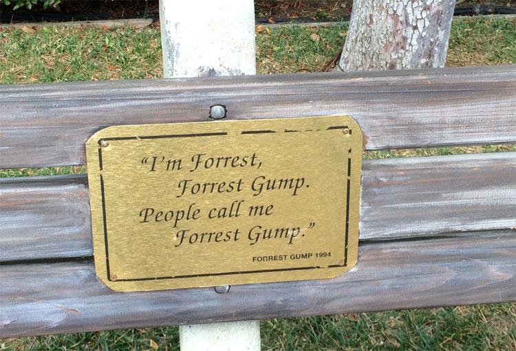 "Bank aus ""Forrest Gump"", Paramount Pictures Studios, Los Angeles © Andrea David"