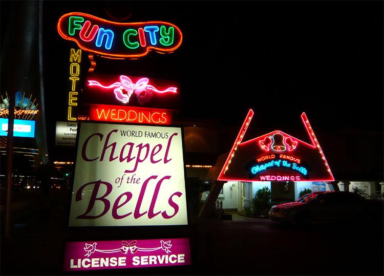 Hochzeitskapelle in Las Vegas, USA © Andrea David
