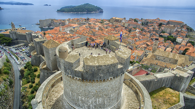 "Drehort für ""Qarth"", Festung Minčeta, Dubrovnik, Kroatien © Ivo Biocina"