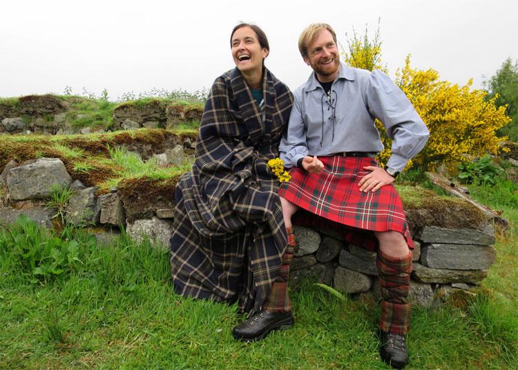 "Spaß beim ""Outlander""-Shooting mit Mac © Andrea David"