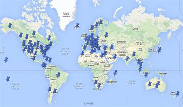 Weltkarte Drehorte