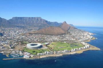 Kapstadt von oben, Helikopterflug, Südafrika © Andrea David