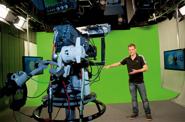 Greenscreen ARD-Wetterstudio, Bavaria Filmstadt © Bavaria Filmstadt