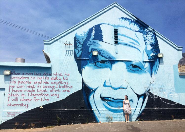 Nelson Mandela Mural, District 6, Kapstadt, Südafrika © Andrea David