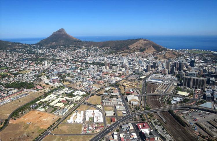 Helikopterflug, Kapstadt, Südafrika © Andrea David