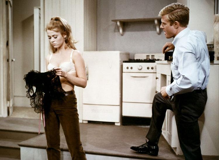 """Jane Fonda und Robert Redford in """"Barfuß im Park"""" © Paramount Pictures"""