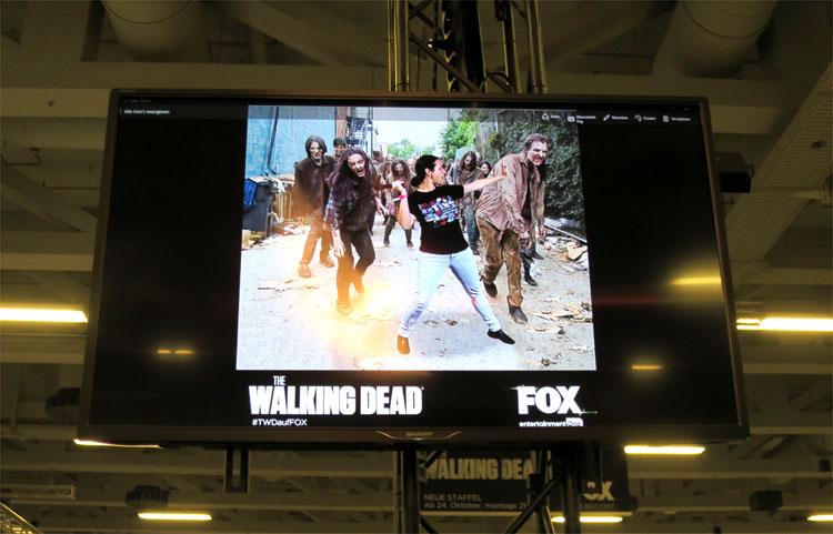 """""""The Walking Dead"""" am Stand von Fox, German Comic Con, Berlin © Andrea David"""