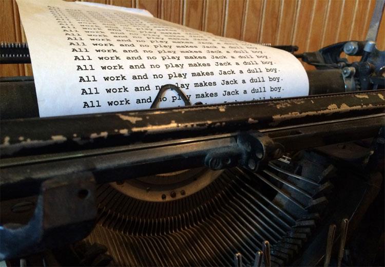"""Shining"" Schreibmaschine, The Stanley Hotel, Estes Park, Colorado © Andrea David"
