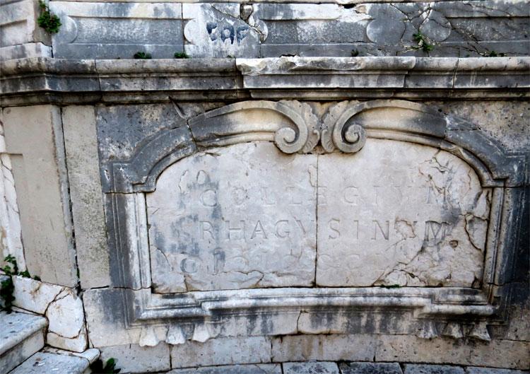 Schriftzug an Jesuitentreppe, Dubrovnik © Andrea David
