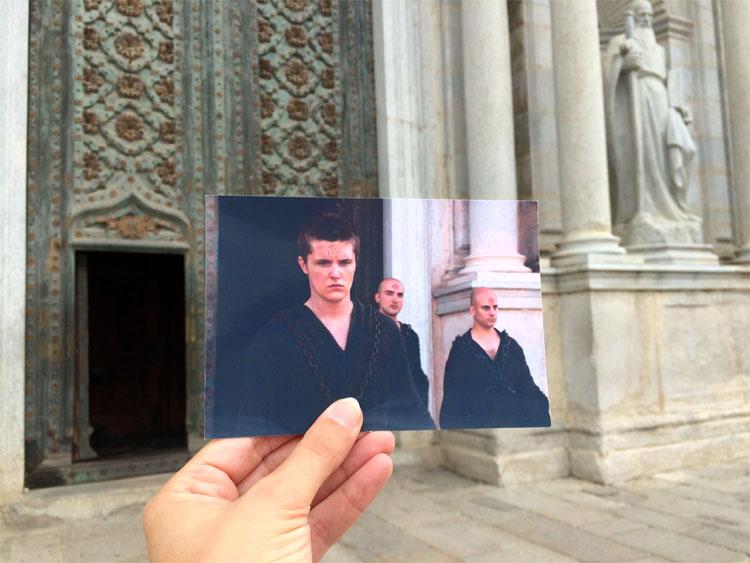 Lancel Lennister vor der Septe von Baelor, Kathedrale Santa Maria, Girona © Andrea David