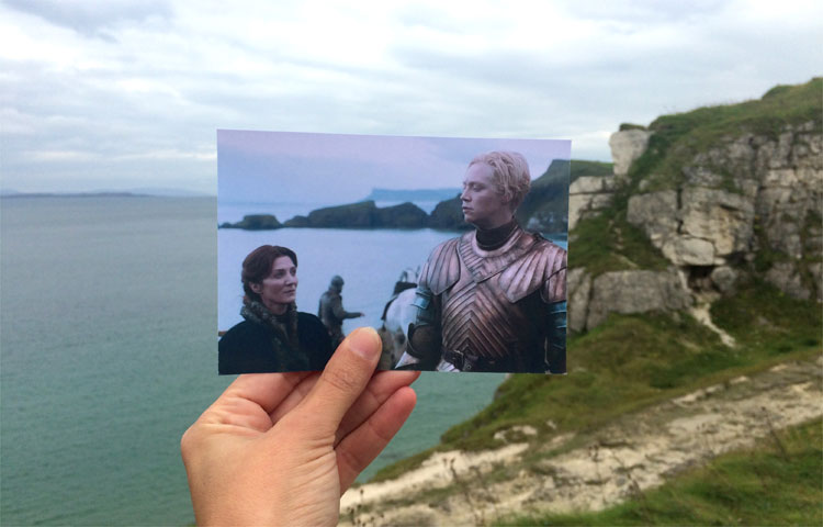 Catelyn Stark und Brienne von Tarth in Larrybane, Nordirland © Andrea David