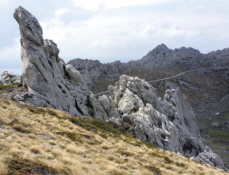 """Die Fingerfelsen am Mali Alan in """"Winnetou 1"""", Kroatien © Dirk Brüderle"""