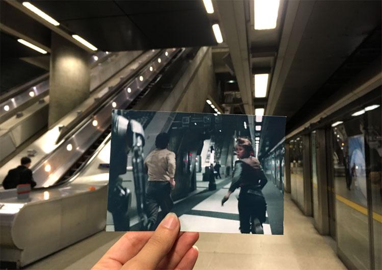 """Rogue One"" Drehort, U-Bahn-Station Canary Wharf, London © Andrea David"