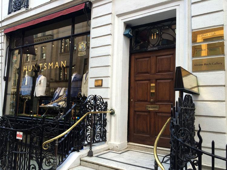 """Kingsman"" Drehort, Huntsman, Savile Row, London © Andrea David"