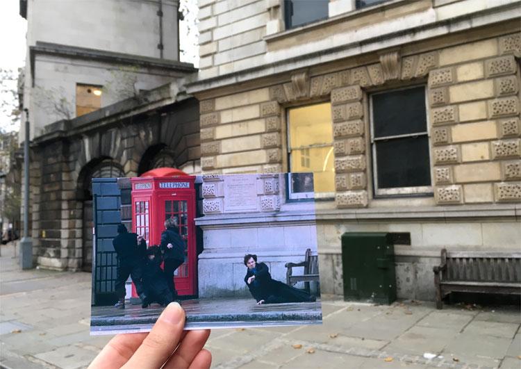 """Sherlock Holmes"" Drehort, St. Bart's Hospital, London © Andrea David"