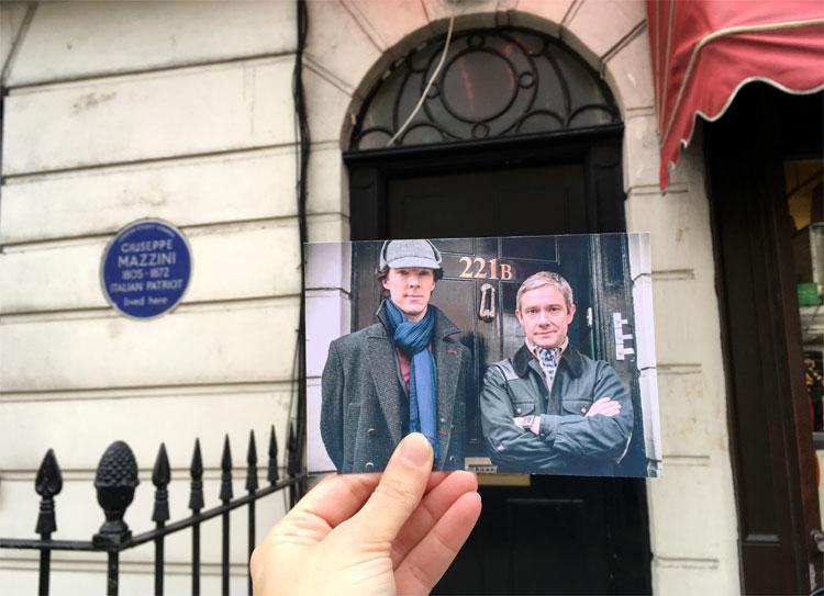 """Sherlock Holmes"" Drehort, North Gower Street, London © Andrea David"