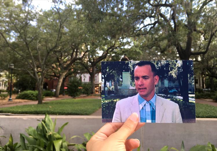 """Forrest Gump"" Drehort Chippewa Square, Savannah, Georgia"