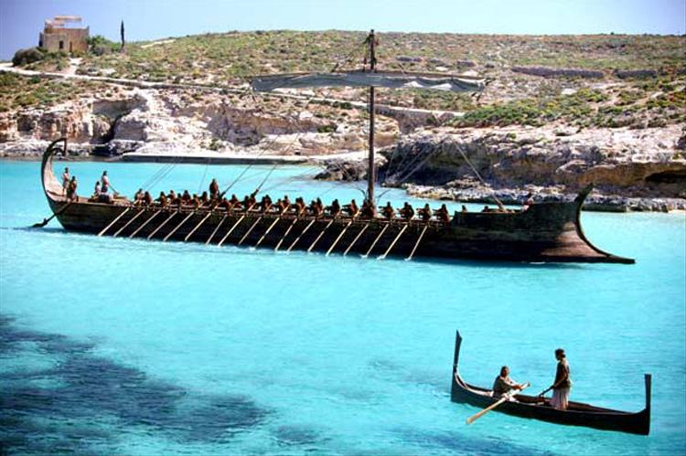 """Filmszene aus """"Troja"""" auf Comino, Malta"""