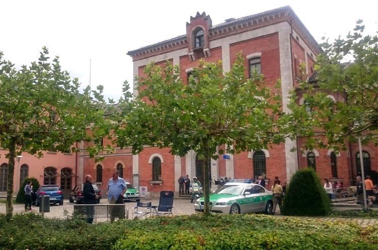 Drehort Polizeistation, Rathaus Rosenheim © Sabine Weinhardt