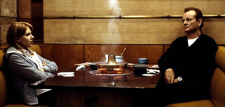 """Filmszene aus """"Lost in Translation"""" im Shabu Shabu Restaurant, Shibuya, Tokio"""