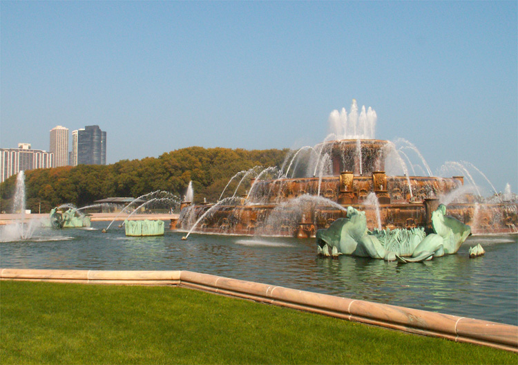 """Al Bundy"" Brunnen, Buckingham Fountain, Chicago © Andrea David"