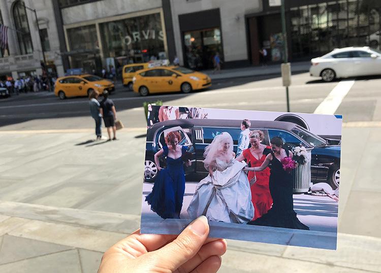 "Szene aus ""Sex and the City"" vor der New York Public Library, New York City"
