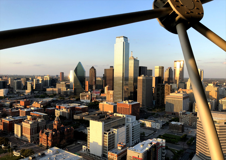 Blick vom Reunion Tower, Dallas
