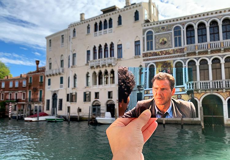 """Drehort aus """"Indiana Jones und der letzte Kreuzzug"""" am Canal Grande, Venedig"""