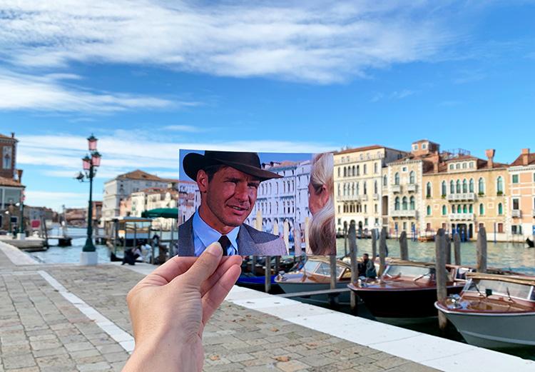 """Drehort aus """"Indiana Jones und der letzte Kreuzzug"""", Fondamenta Salute, Venedig"""