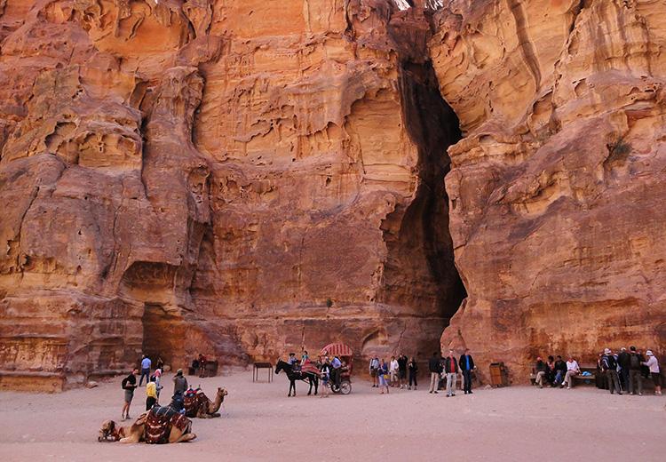 Siq in Petra, Jordanien