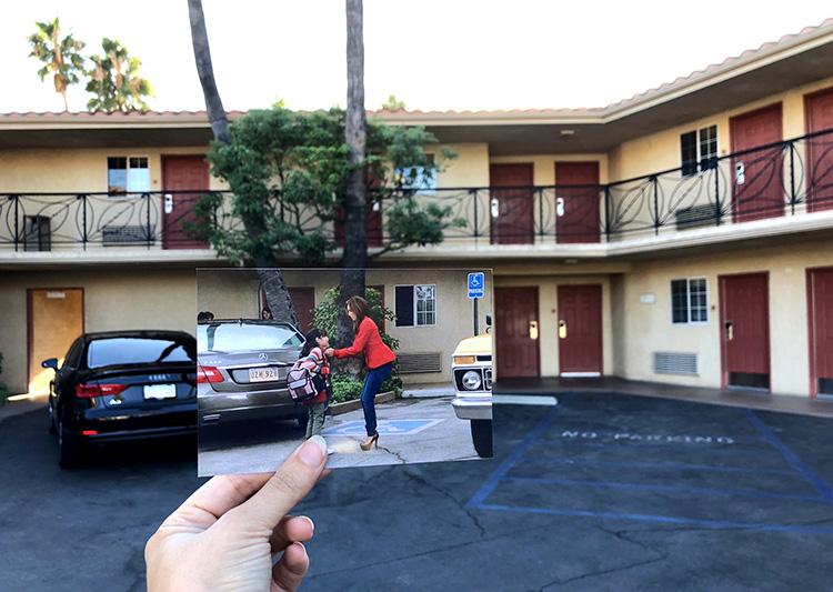 "Szene aus ""Desperate Housewives"" im Safari Inn, Burbank, Los Angeles"