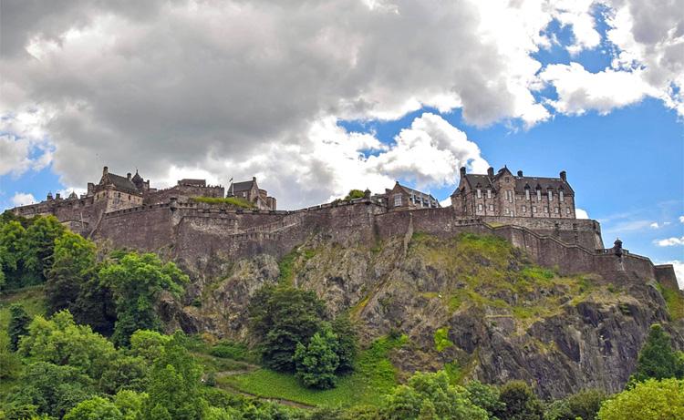 Das echte Edinburgh Castle, Schottland