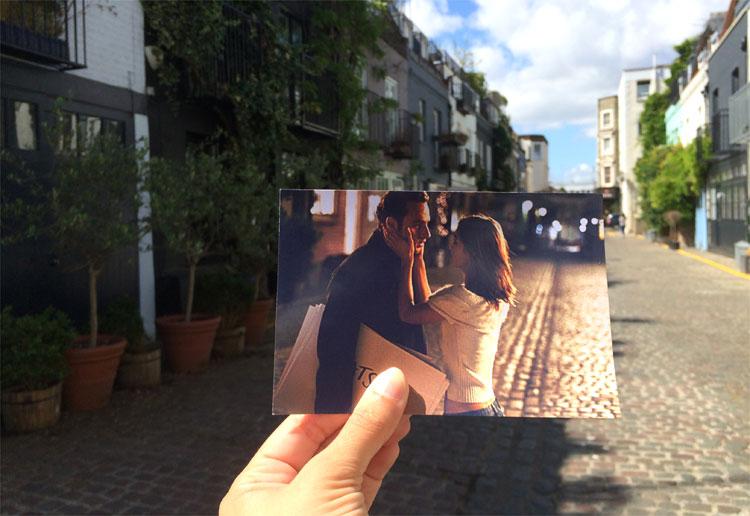 "Filmszene aus ""Tatsächlich... Liebe"" in St. Luke´s Mews, Notting Hill, London © Andrea David"