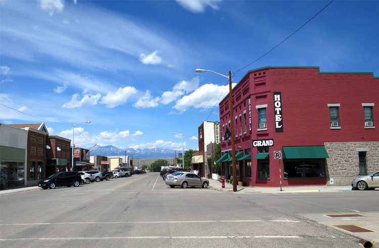 Das Grand Hotel in der McLeod Street, Big Timber, Montana © Andrea David