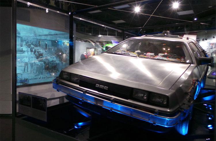 """Der DeLorean aus """"Zurück in die Zukunft"""", Universal Studios, Los Angeles © Andrea David"""