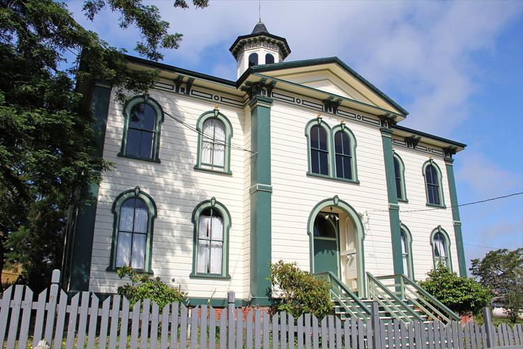 """""""Die Vögel"""" Drehort Bodega Bay School, Potter School House, Bodega, Kalifornien"""