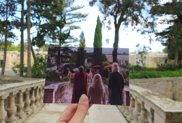 """Game of Thrones"" Drehort Verdala Palace, Malta © Andrea David"