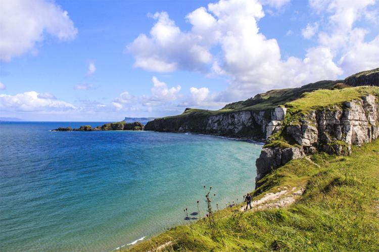 An der Küste North Antrim, Nordirland