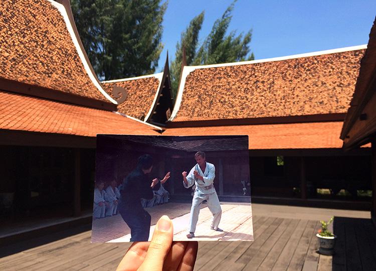 "Szene aus ""Der Mann mit dem goldenen Colt"", Dvaravati House, Ancient City, Muang Boran, Thailand"