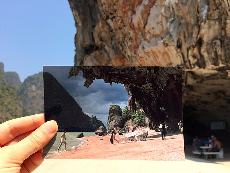 """Szene aus """"Der Mann mit dem goldenen Colt"""", Ko Ping Kan, Phang Nga Bucht, Thailand"""