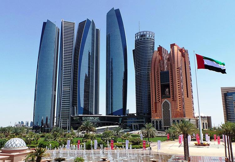 Ethiad Towers in Abu Dhabi