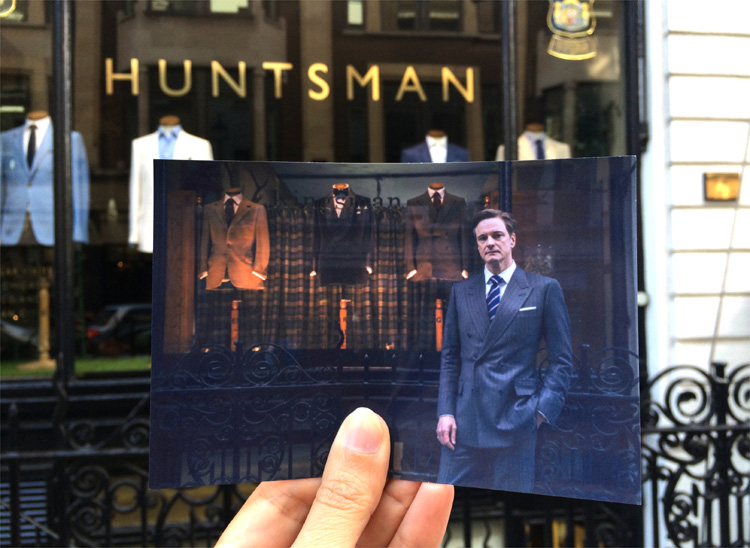 """Kingsman"" Drehort, Huntsman, Savile Row, London © Andrea David"
