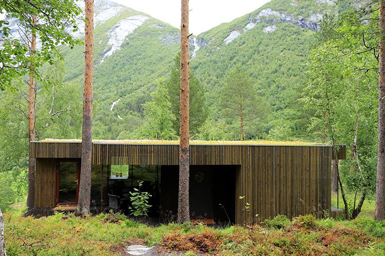 Chalet im Juvet Hotel, Valldal, Norwegen