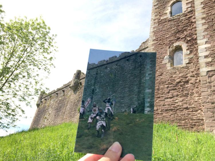 """""""Ritter der Kokosnuss"""" am Doune Castle, Schottland © Andrea David"""
