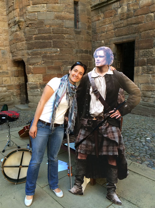"""Papp-Star"" Jamie Fraser, Linlithgow Palace, Schottland © Andrea David"