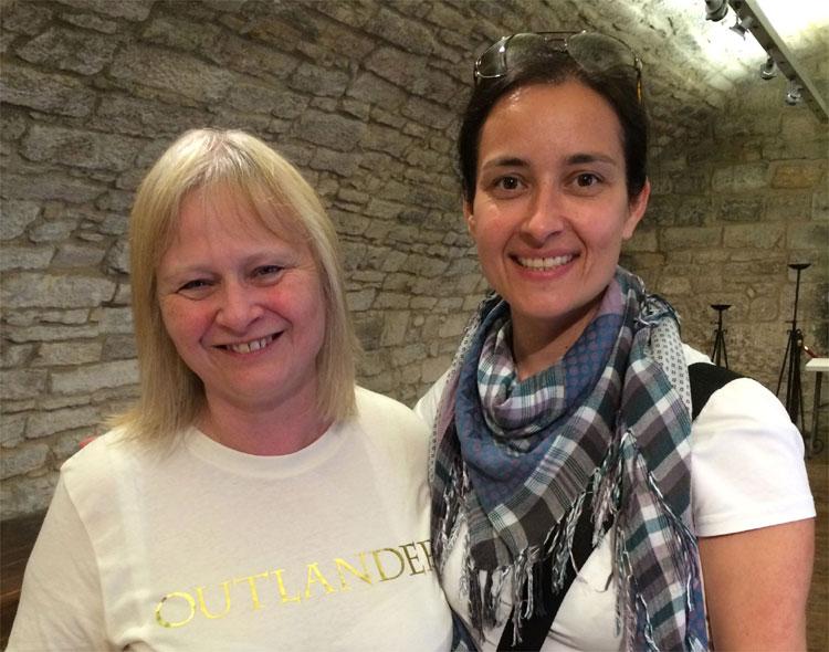 Im Gespräch mit Anne Daly, Linlithgow Palace, Schottland © Andrea David