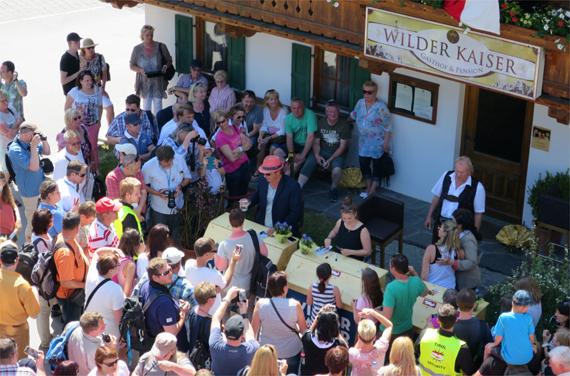 Bergdoktorfantag Juni 2015, Dorfplatz Going, Wilder Kaiser © Andrea David