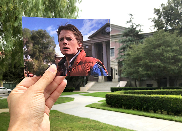 """Das Rathaus aus """"Zurück in die Zukunft"""", Universal Studios, Los Angeles"""