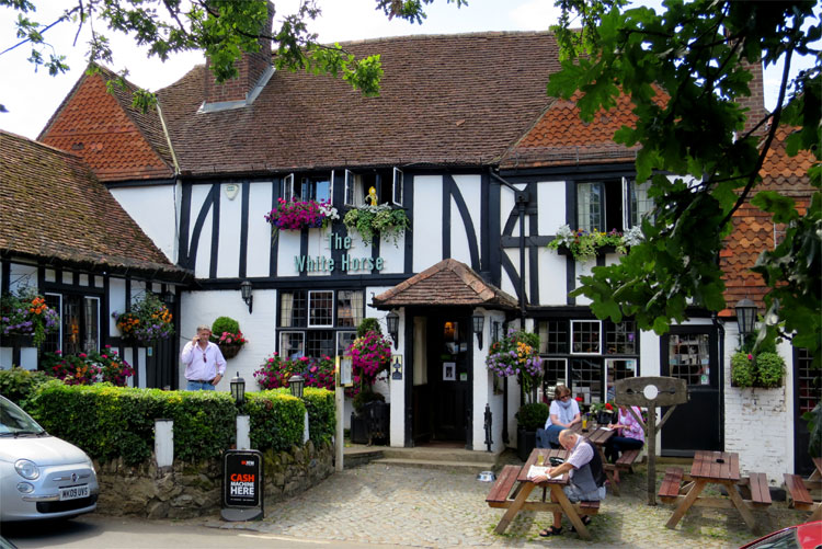 White Horse Pub, Shere, England © Andrea David
