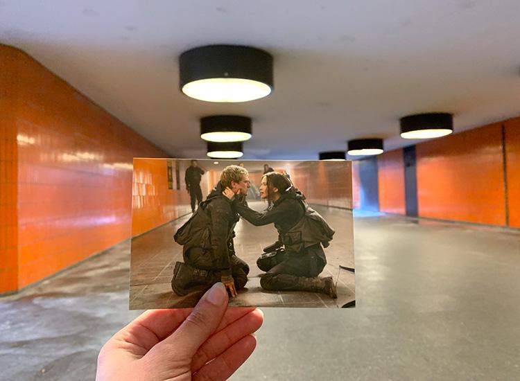 Katniss und Peeta im Untergrund des Capitols, Messedamm Berlin